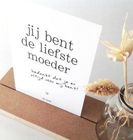 By Romi: Memory shelf + vaasje met kaartje Jij bent de liefste moeder