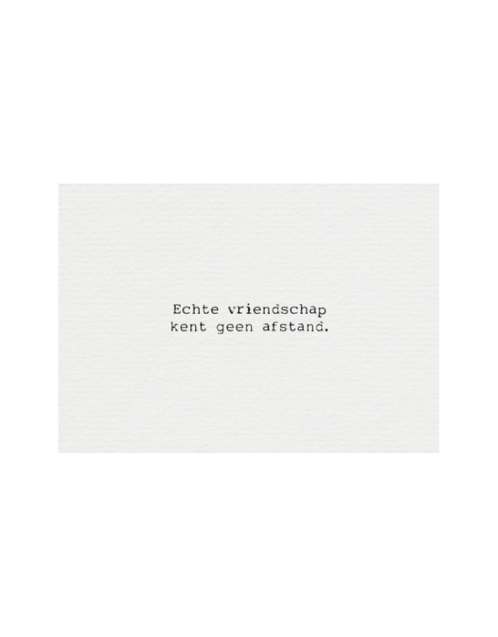 Mousie kaart a6 mousie: echte vriendschap kent geen afstand