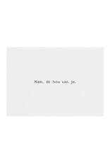 Mousie kaart a6 mousie: mam, ik hou van je