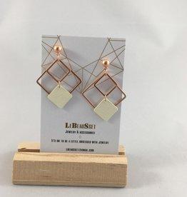 Lebeausset Lebeausset 098 hanger roségoudkleurig en wit