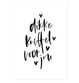 Hofje van Kieka kaart a6 Hofje van Kieka Dikke knuffel voor jou