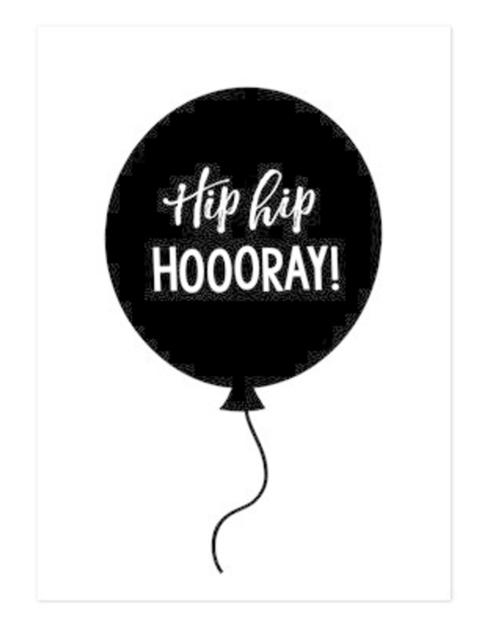 Hofje van Kieka kaart a6 Hofje van Kieka hip hip hooray ballon