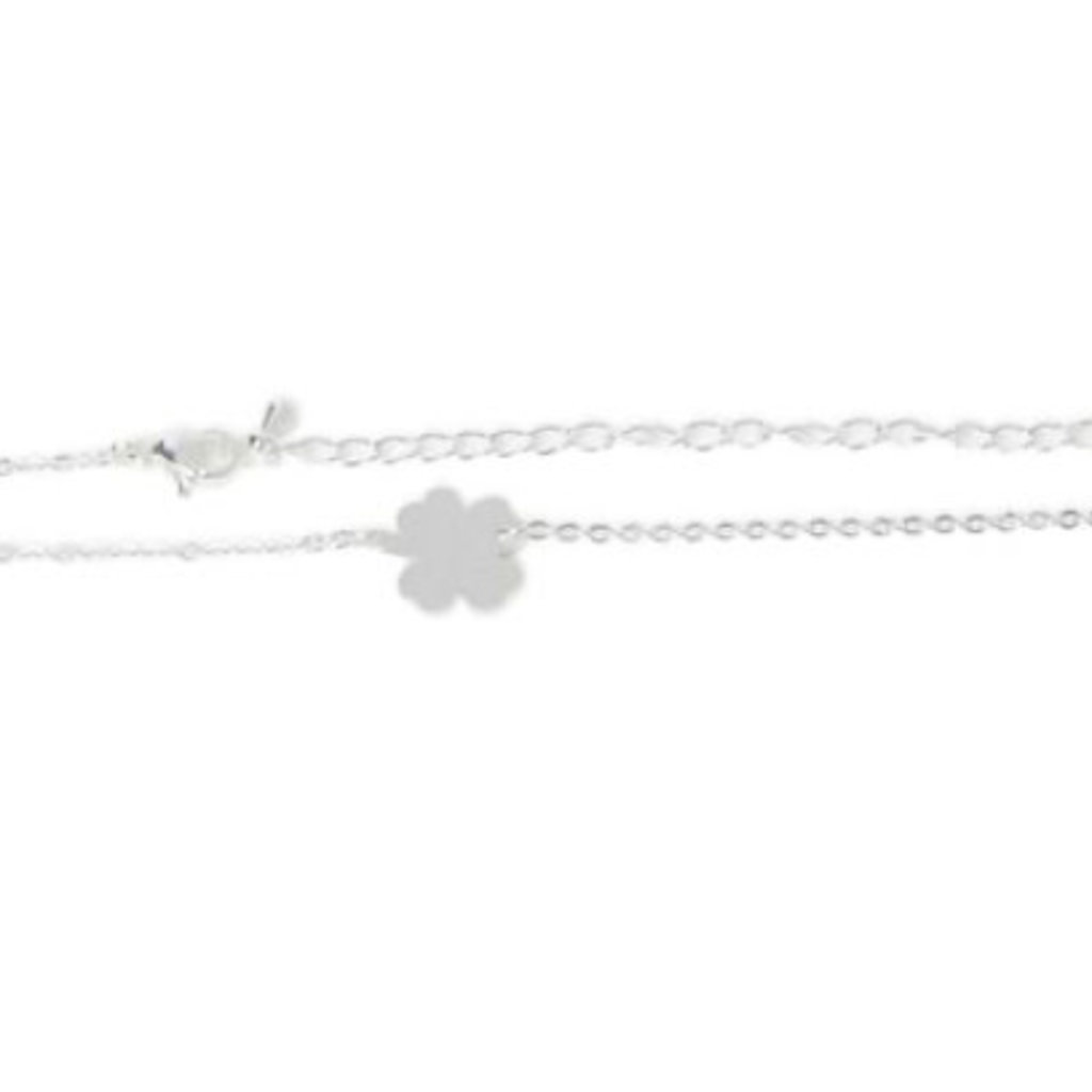 Birambi armbandje clover bracelet zilver