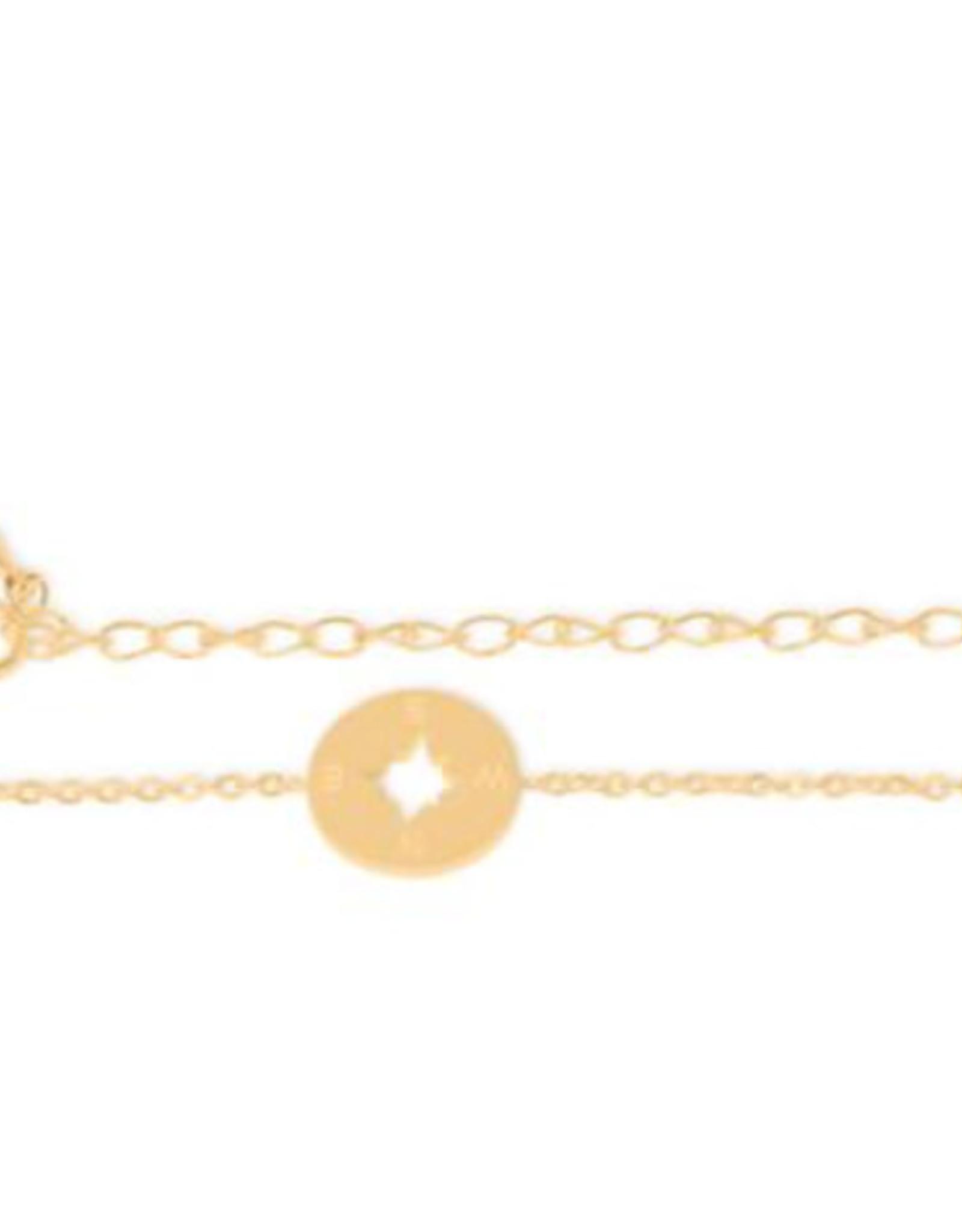Birambi armbandje compass bracelet goud