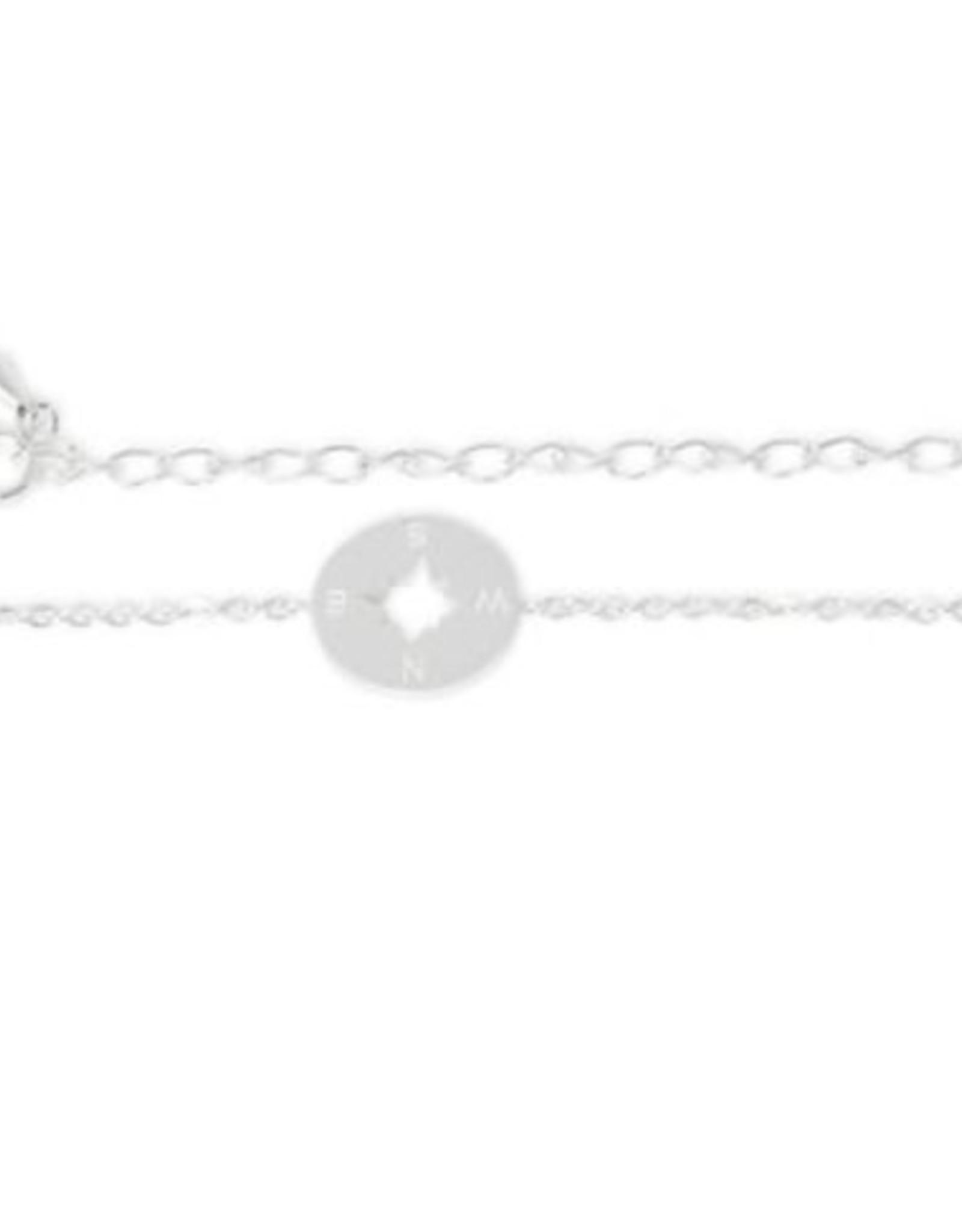 Birambi armbandje compass bracelet zilver