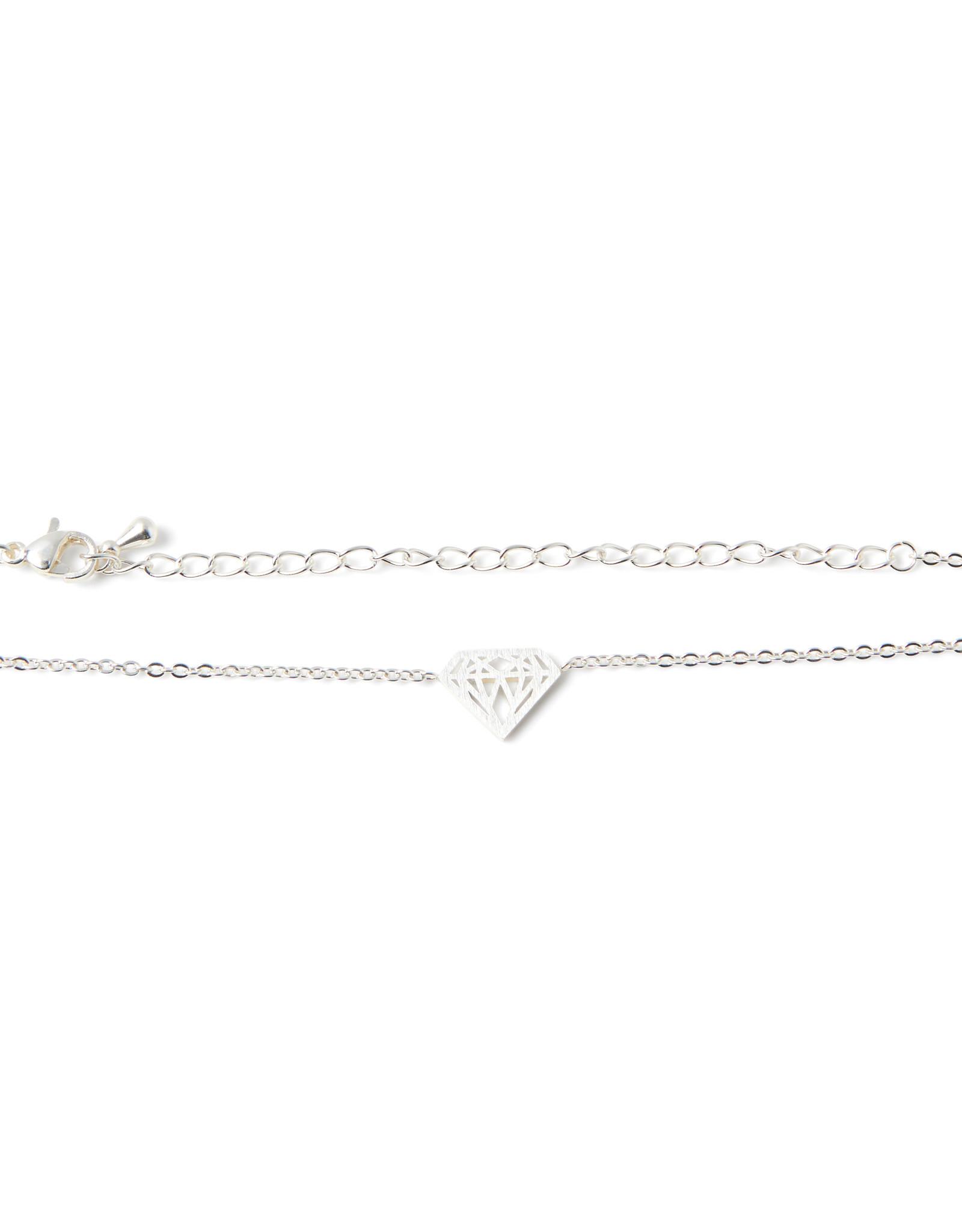 Birambi armbandje diamond bracelet zilver