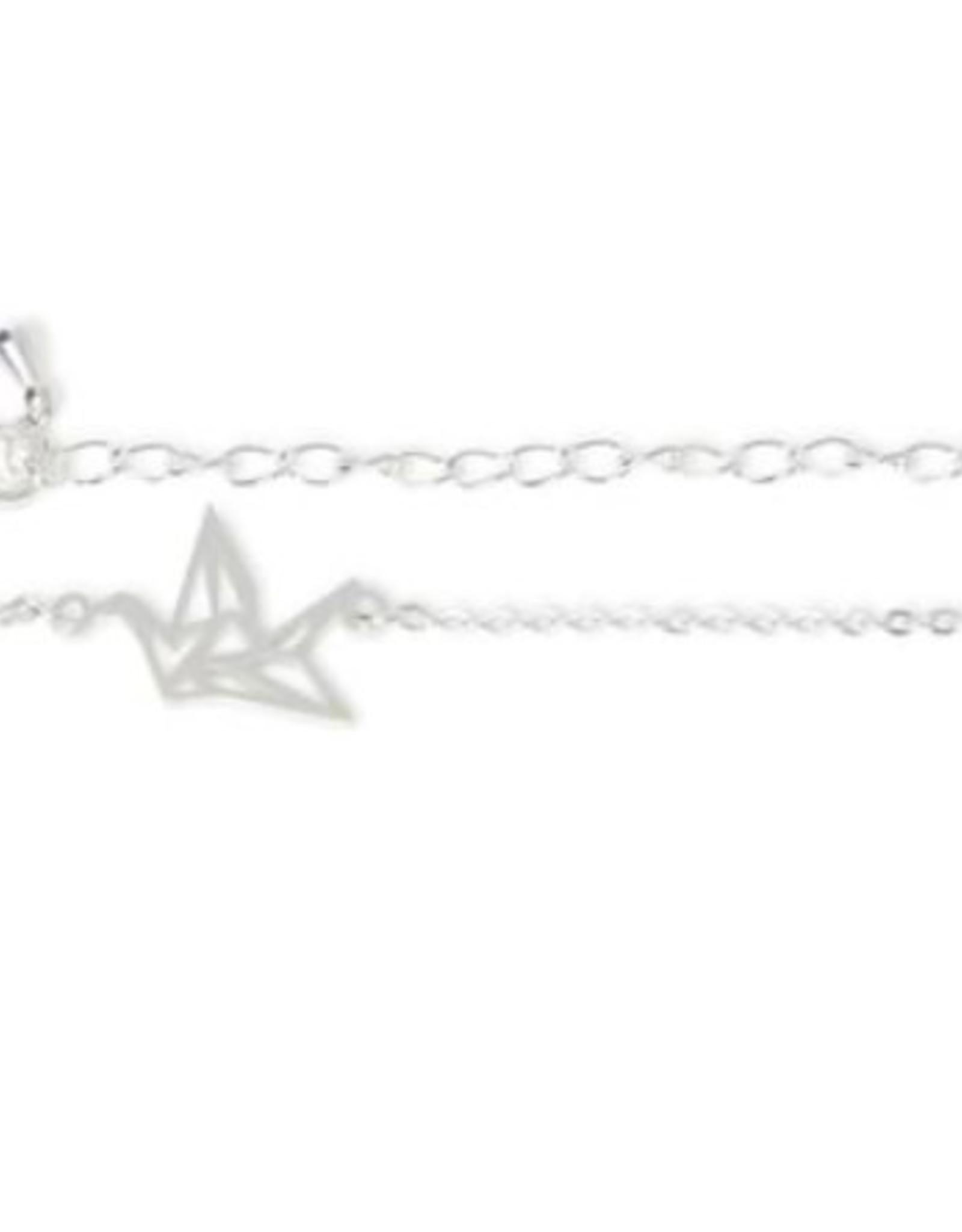 Birambi armbandje geometric bird zilver