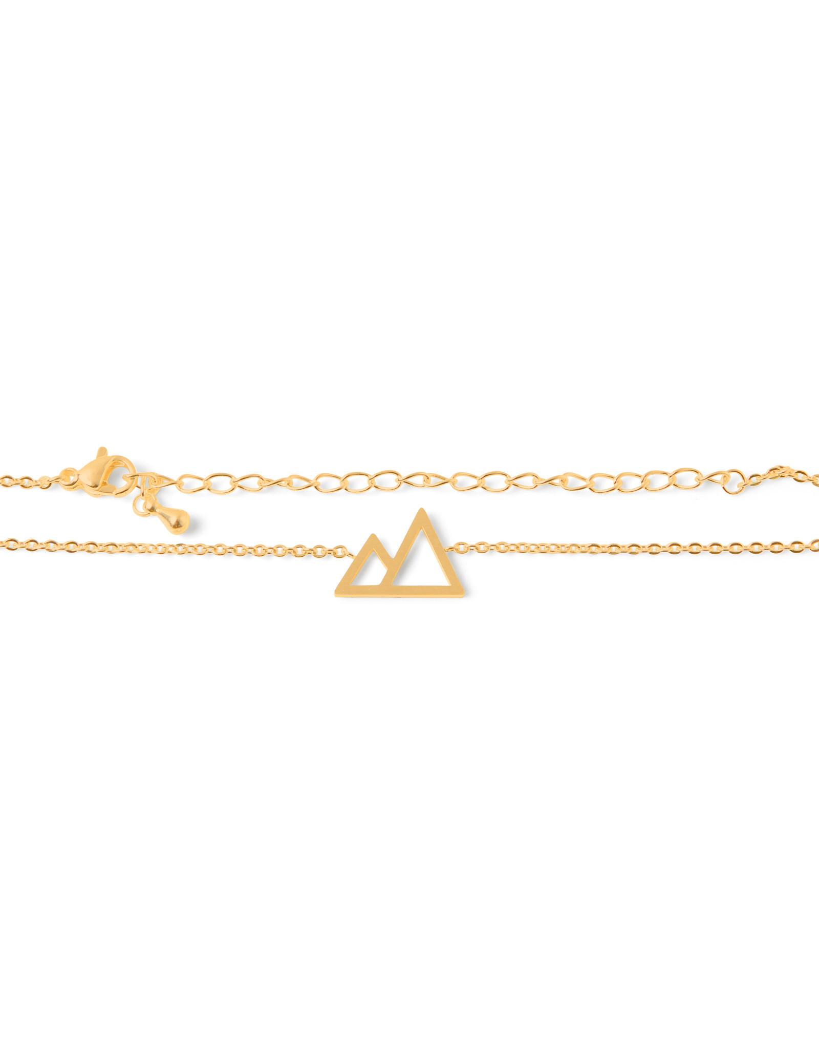 Birambi armbandje graphic mountain goud