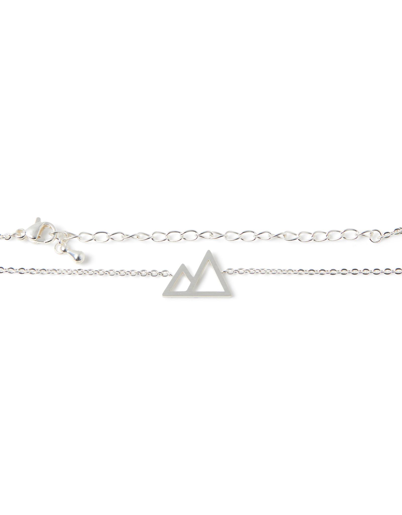 Birambi Birambi armbandje graphic mountain zilver