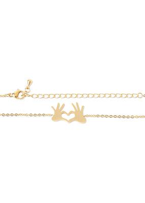 Birambi Birambi armbandje hearthand goud