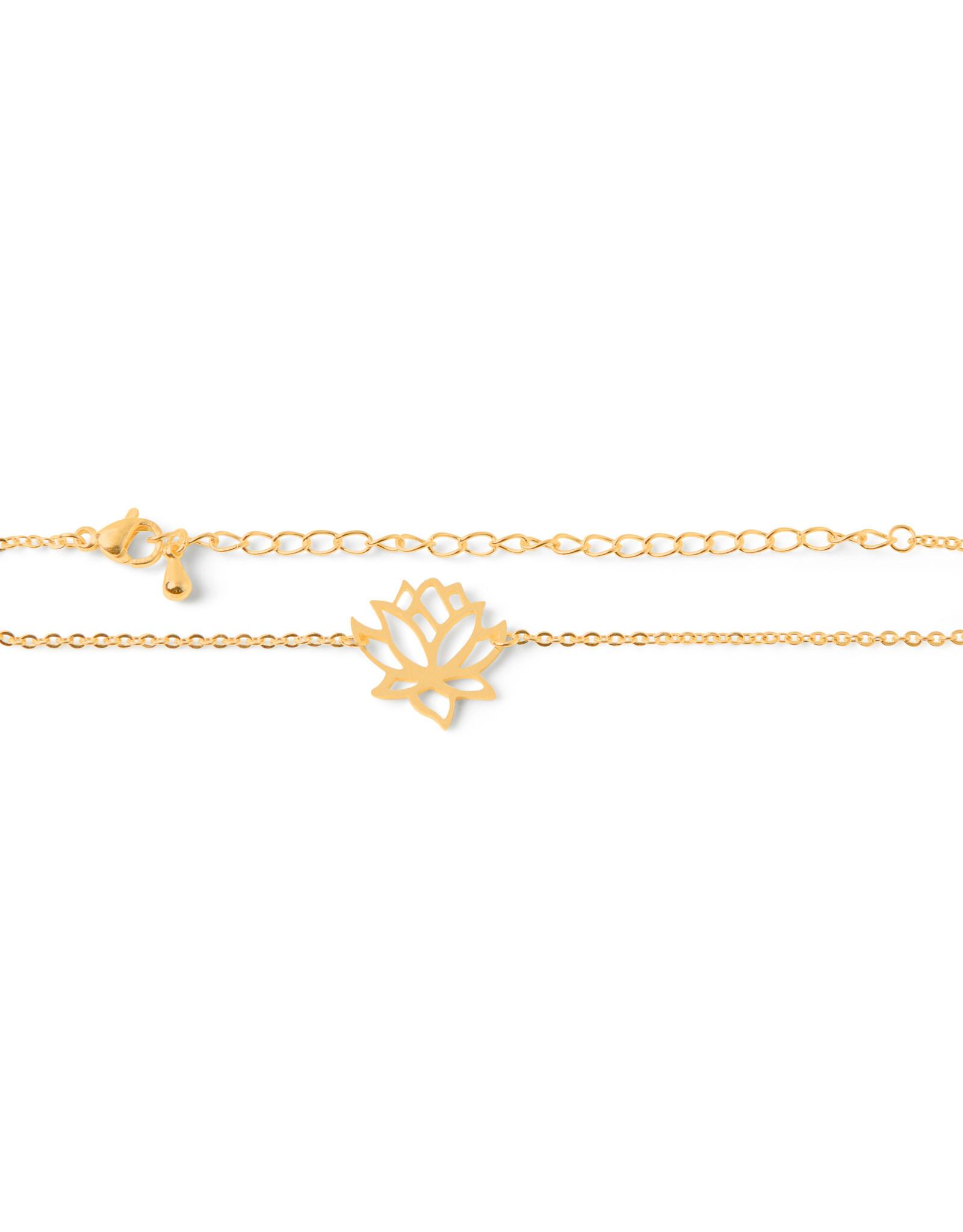 Birambi Birambi armbandje lotus goud