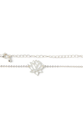 Birambi Birambi armbandje lotus zilver