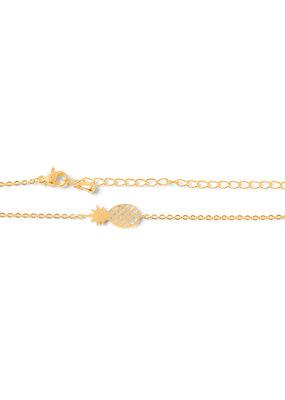 Birambi Birambi armbandje pineapple goud