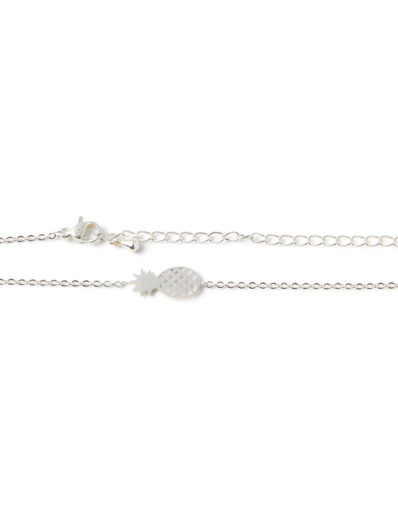 Birambi Birambi armbandje pineapple zilver