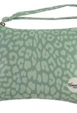By lauren Amsterdam By Lauren Amsterdam leopard only minty green clutch