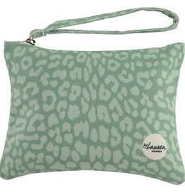 By lauren Amsterdam By Lauren Amsterdam leopard only minty green clutch