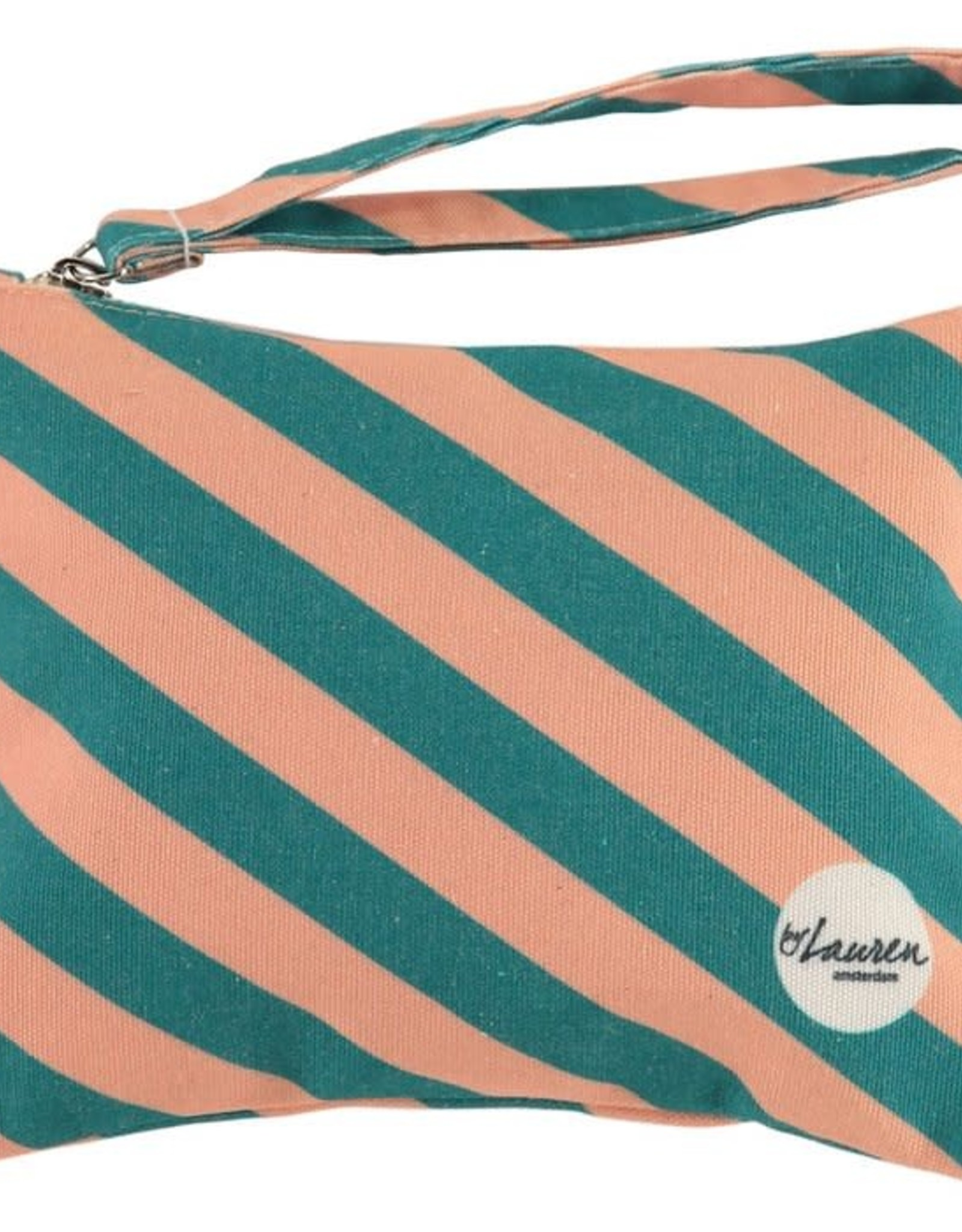 By lauren Amsterdam By Lauren Amsterdam we are stripes green pink clutch