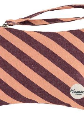 By lauren Amsterdam By Lauren Amsterdam we are stripes burghundi pink clutch