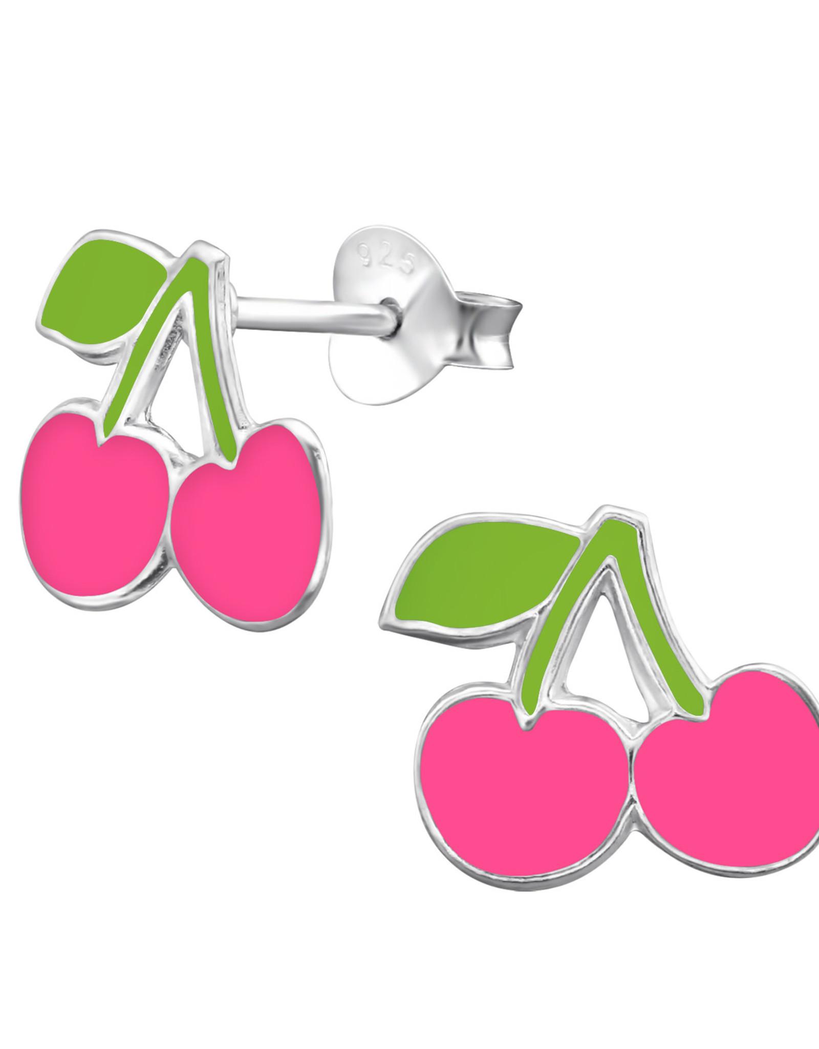 Precious jewels Precious jewels: oorstekers kersen roze