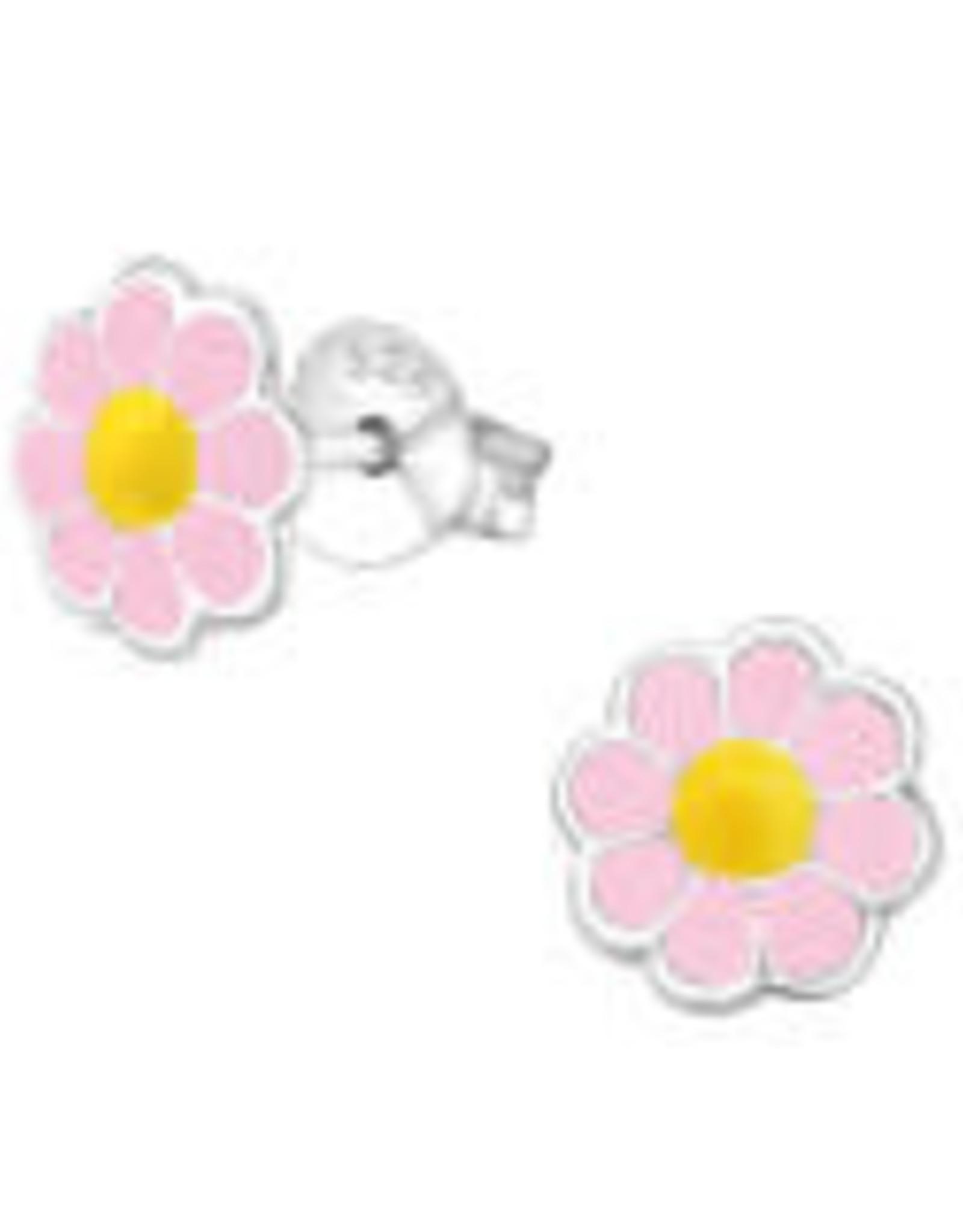 Precious jewels Precious jewels: oorstekers bloemetjes lichtroze en geel
