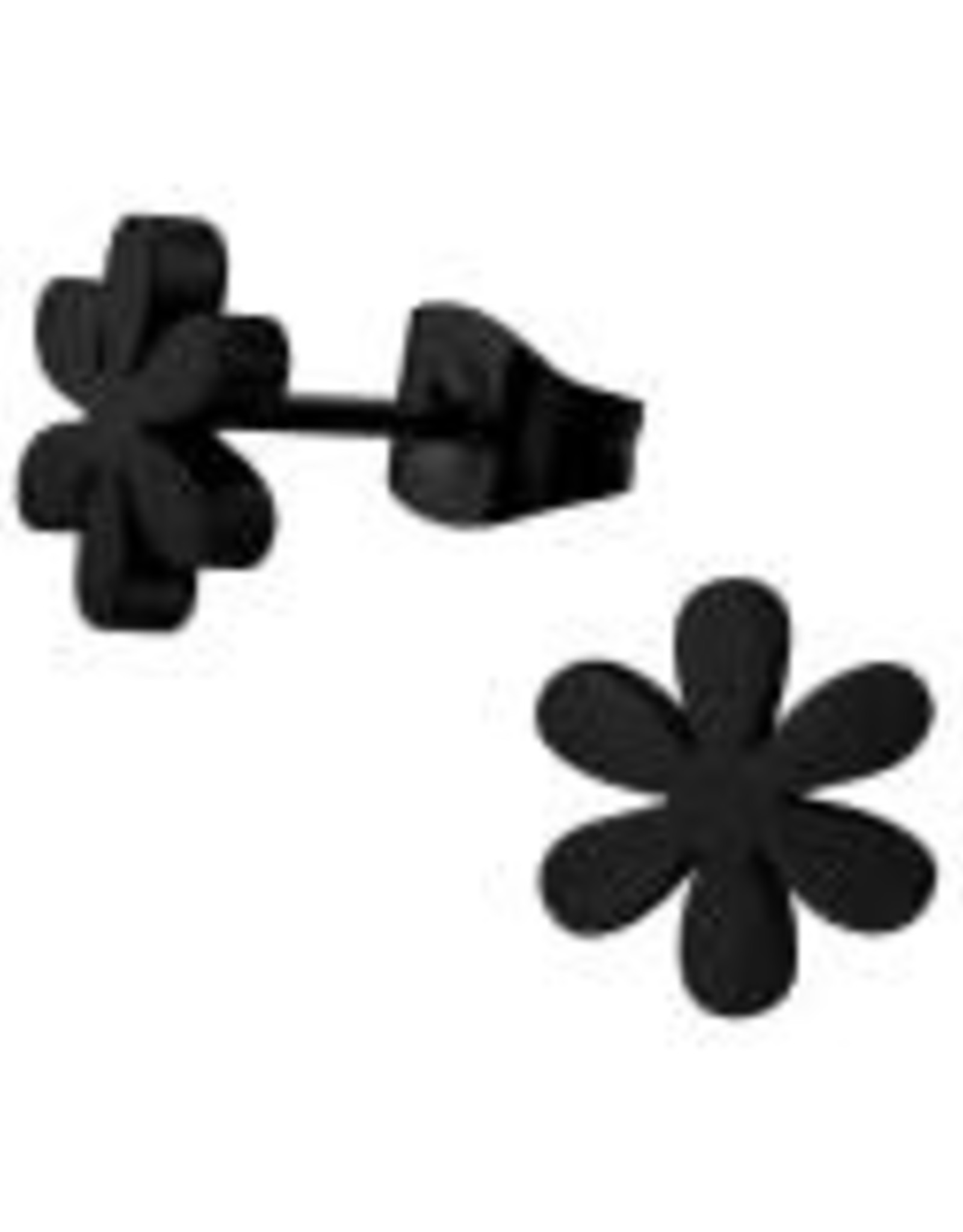 Precious jewels Precious jewels: oorstekers bloemetje zwart