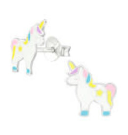 Precious jewels Precious jewels: oorstekers unicorn pastel