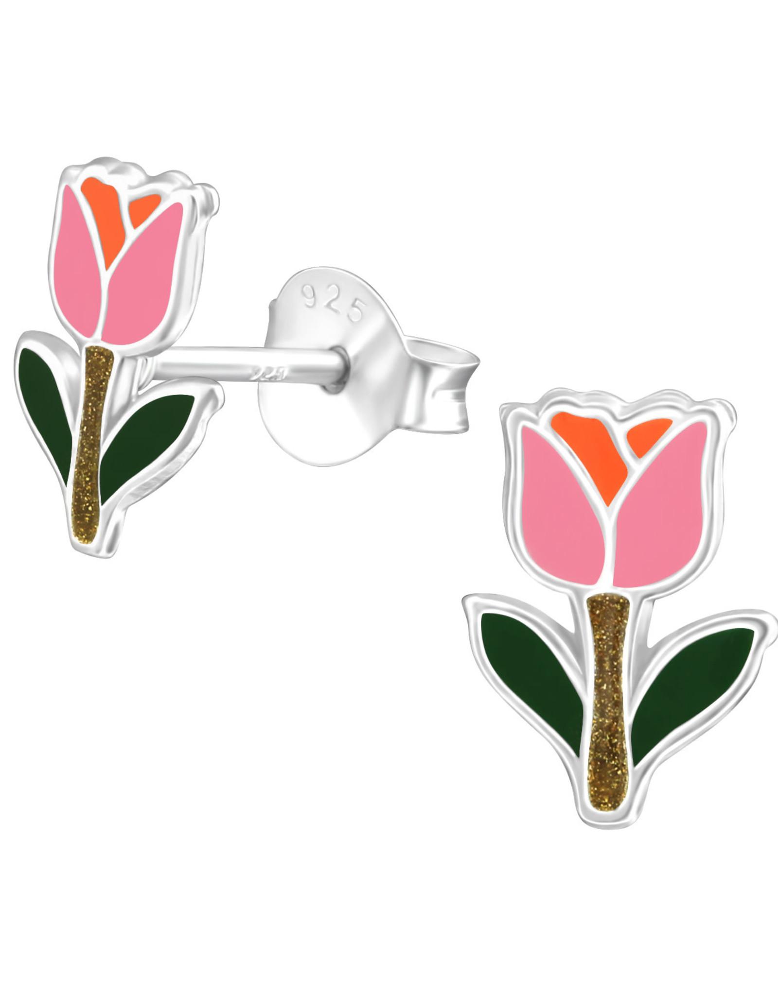 Precious jewels Precious jewels: oorstekers tulp roze