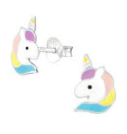 Precious jewels Precious jewels: oorstekers unicorn hoofd 01