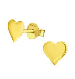 Precious jewels Precious jewels: oorstekers hartjes goudkleurig