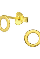 Precious jewels Precious jewels: oorstekers cirkel open goudkleurig