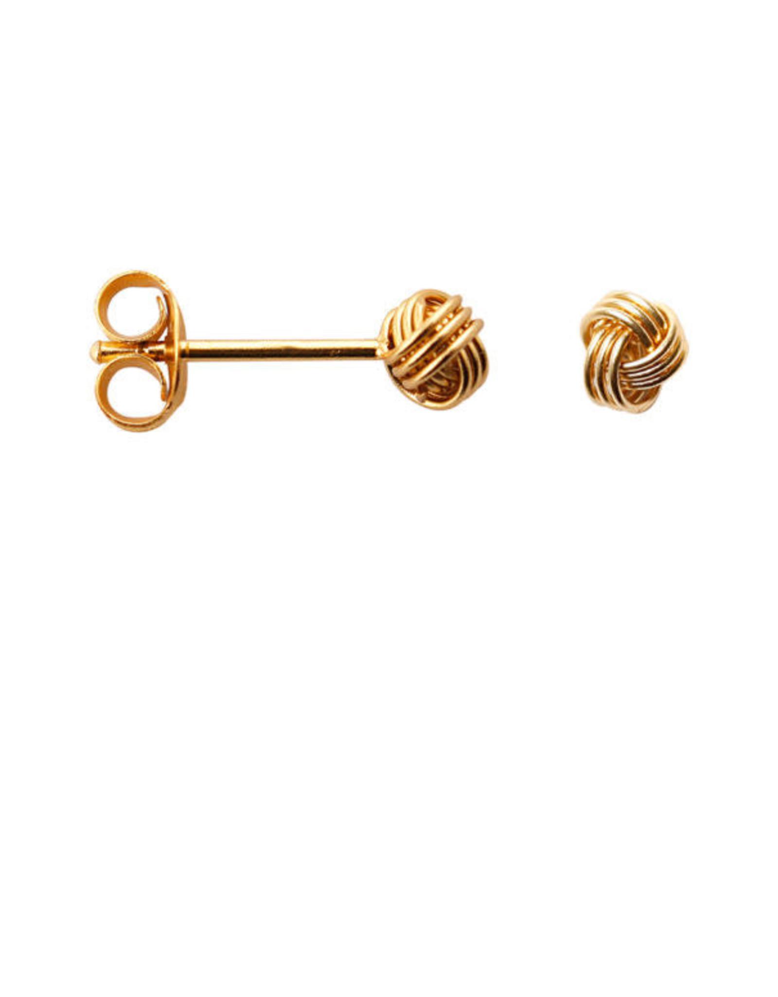 Label kiki label kiki knot earring gold
