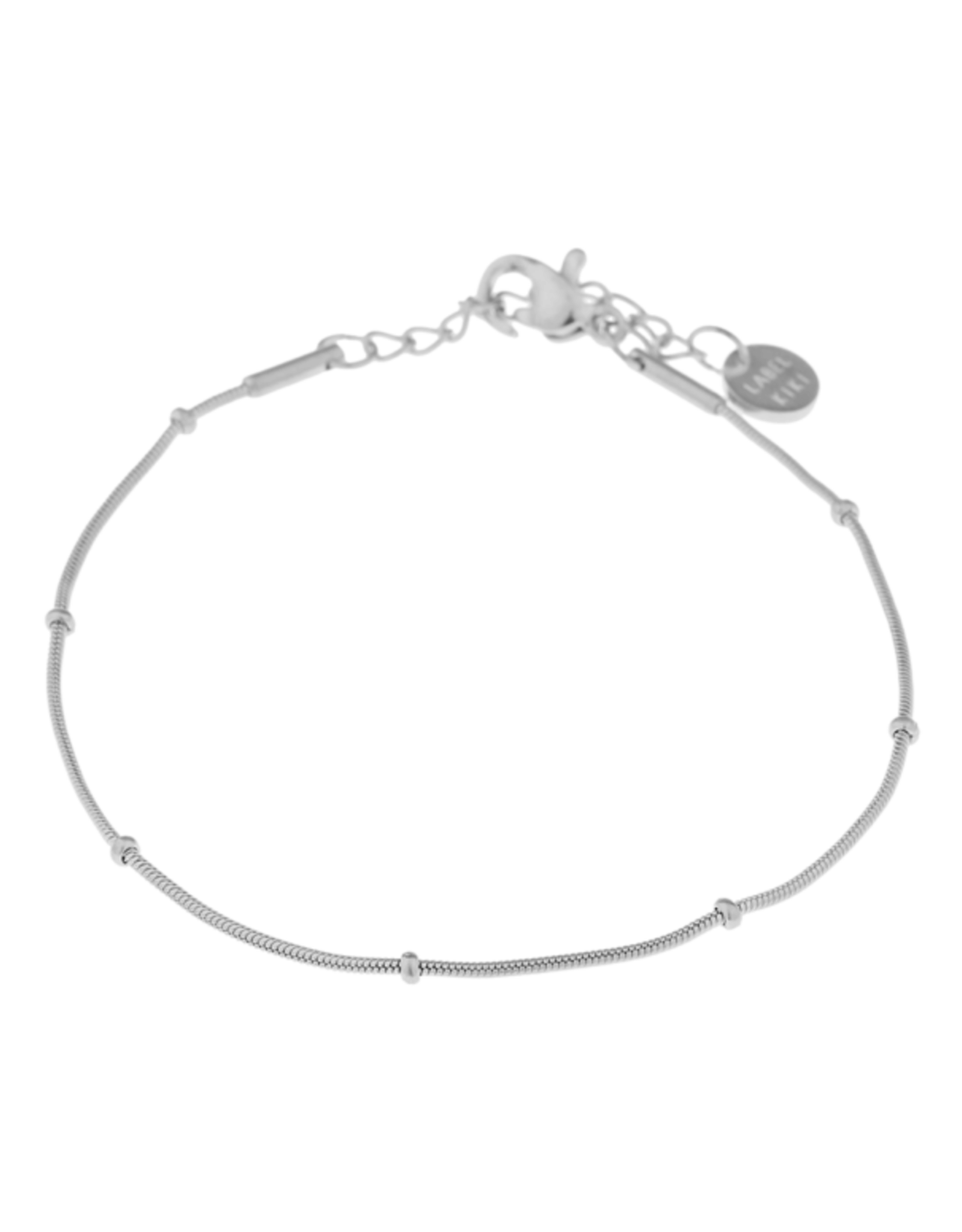 Label kiki label kiki bracelet mini dot chain silver