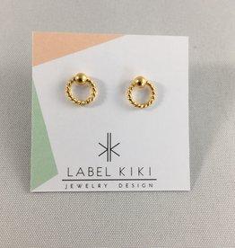 Label kiki Label kiki gold twisted dot earring