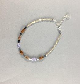 Label kiki label kiki bracelet pastel beads silver 006