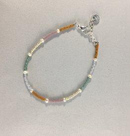 Label kiki label kiki bracelet rainbow pearl silver 004