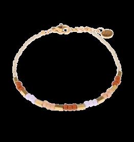 Label kiki label kiki bracelet pastel beads gold 005