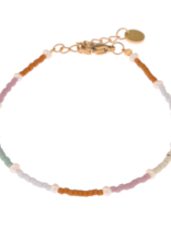Label kiki label kiki bracelet rainbow pearl gold 003