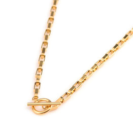 Label kiki label kiki necklace big chain gold