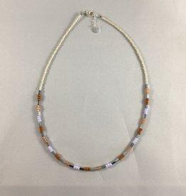 Label kiki label kiki necklace Pastel Beads Necklace Silver Choker 001