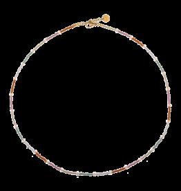 Label kiki label kiki necklace Pastel Beads Necklace Gold Choker 004