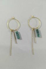 Isa en Roza Isa en Roza 068 hangers goudkleurig en groen