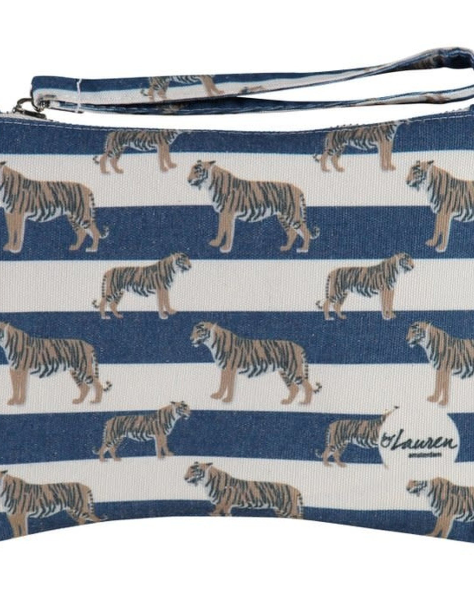 By lauren Amsterdam By Lauren Amsterdam tigers and stripes royal navy clutch