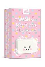 studio schatkist Studio Schatkist zeep: I wash you lots of love & hapiness hartjes