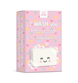 studio schatkist Studio Schatkist zeep: I wash you lots of love & hapiness hartjes