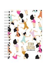 studio stationery Studio stationery A6 Notebook Stay Social - Social media plan
