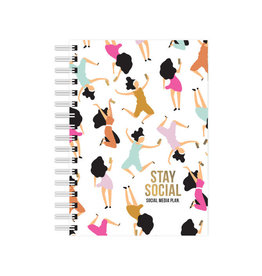 studio stationery Studio stationery A6 Notebook Stay Social - Social media plan