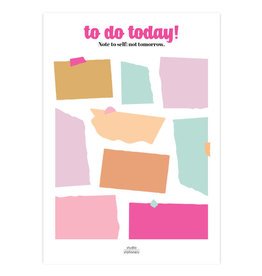 studio stationery Studio stationery A5 Noteblock To do today Multicolor