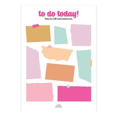 Studio stationery Studio stationery A5 Noteblock To do today Multicolor
