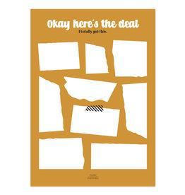 studio stationery Studio stationery A5 Noteblock Okay here's the deal Ocher
