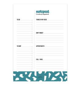 studio stationery Studio stationery A5 Notepad Creatively Organized Petrol